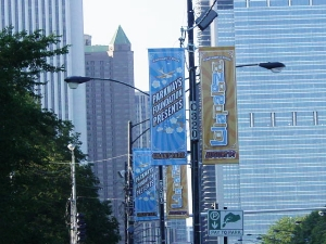 Street Pole Banners for Lollapalooza